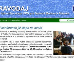 Červen 2020- ZPRAVODAJ výboru Územního svazu ČRS pro Severní Moravu
